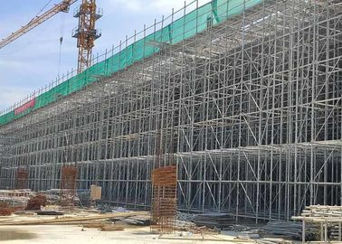 Multidirectional Ring Lock Scaffolding , Steel Frame Scaffolding Quick Erection
